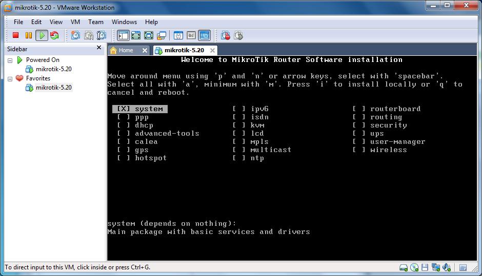 آموزش نصب میکروتیک در VMware Workstation