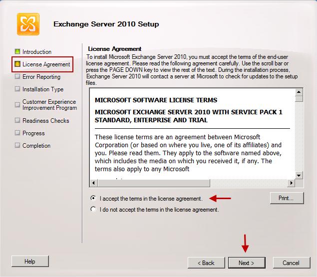 X  Exchange Server 2010