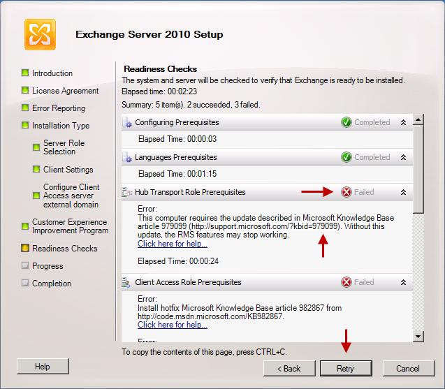 نصب و راه اندازی اولیه Exchange Server 2010