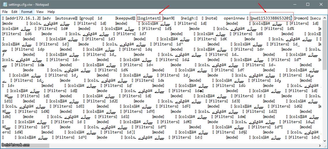 مشاهده پسورد ذخیره شده در محیط Winbox
