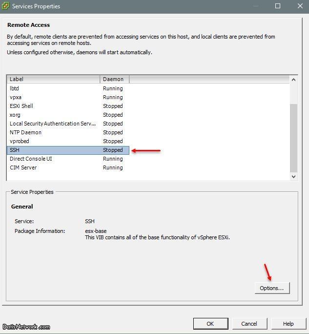 آموزش فعال کردن SSH در سرور ESXi