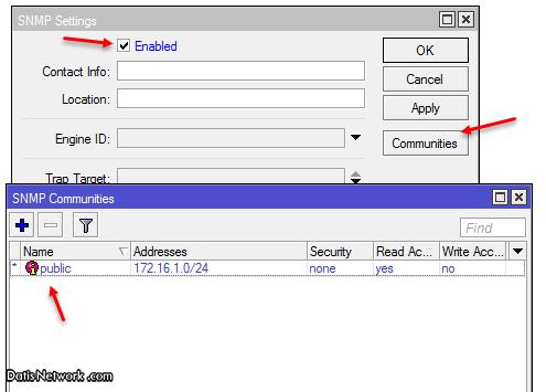 آموزش راه اندازی سرویس SNMP در میکروتیک
