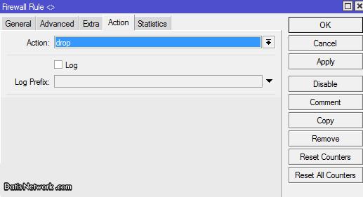 بستن سایت ها بر اساس آدرس در میکروتیک