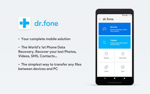 برنامه dr.fone بازیابی اطلاعات در گوشی و تبلت