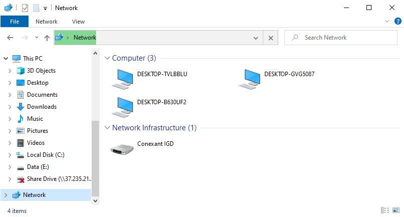 بررسی علت عدم نمایش کامپیوتر در بخش Network و رفع مشکل در شبکه ویندوز 7/8/10