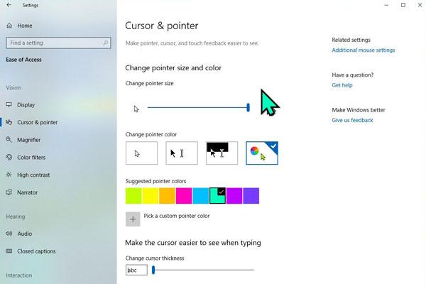 آموزش تغییر نشانگر ماوس در ویندوز 10 - نحوه ساخت طرح اختصاصی Pointer موس