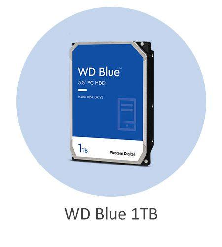 هارد دیسک اینترنال وسترن دیجیتال آبی WD Blue 1TB با ظرفیت 1 ترابایت