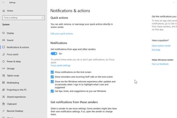 آموزش حذف نوتیفیکیشن در ویندوز 10 - نحوه غیرفعال کردن یا بستن اعلان ها