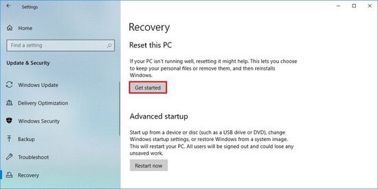 آموزش ریست فکتوری در ویندوز 10 - نحوه بازگشت به تنظیمات کارخانه در ویندوز 10