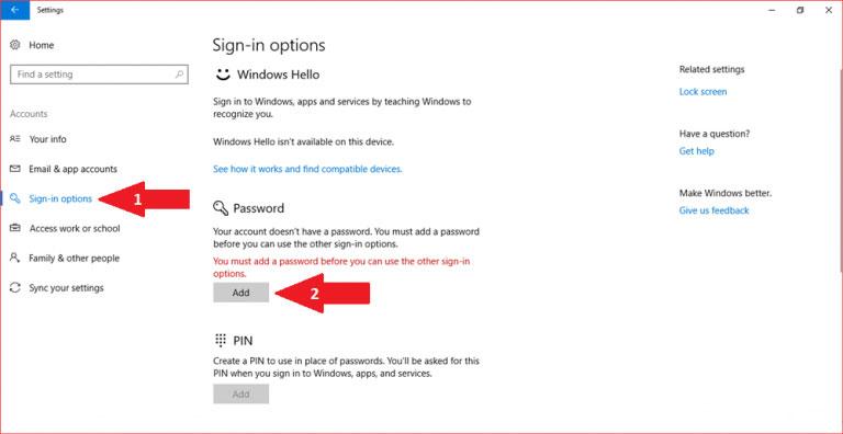 آموزش گذاشتن پسورد برای ویندوز 10 و نحوه فعال سازی رمز برای ورود در کامپیوتر و لپ تاپ