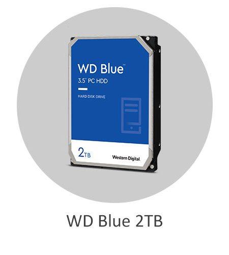 هارد دیسک اینترنال وسترن دیجیتال آبی WD Blue 2TB با ظرفیت 2 ترابایت