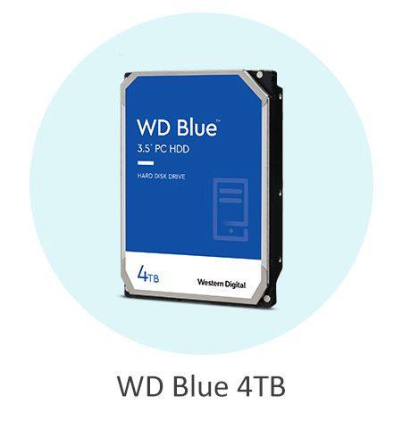 هارد دیسک اینترنال وسترن دیجیتال آبی WD Blue 4TB با ظرفیت 4 ترابایت