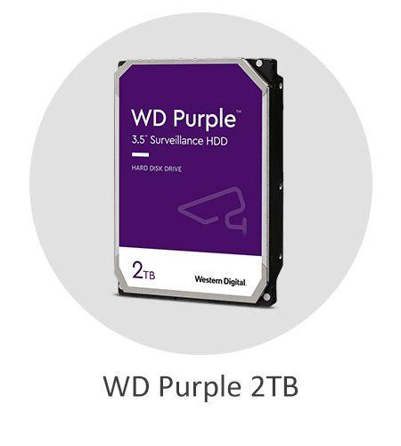 هارد دیسک اینترنال وسترن دیجیتال بنفش WD Purple 2TB با ظرفیت 2 ترابایت