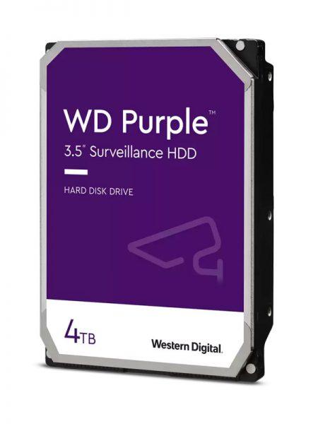هارد دیسک وسترن دیجیتال بنفش WD Purple 4TB با ظرفیت 4 ترابایت