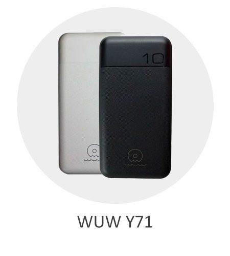 پاوربانک و شارژر همراه WUW Y71 با ظرفیت 10000 میلی آمپر