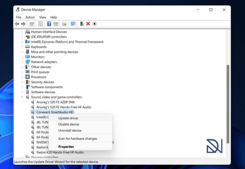 آموزش حل مشکل صدا و کار نکردن Sound در ویندوز 11