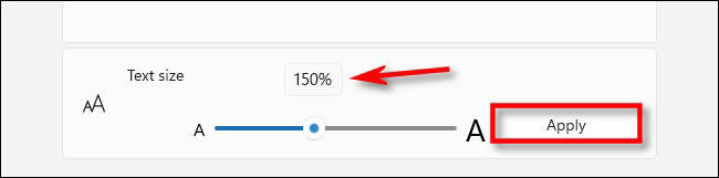 آموزش تغییر سایز فونت (Font Size) در ویندوز 11