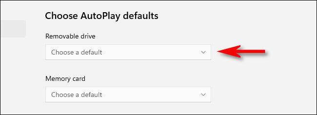 Choose AutoPlay Defaults