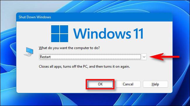 چگونه ویندوز 11 را ری استارت (Restart) کنیم؟