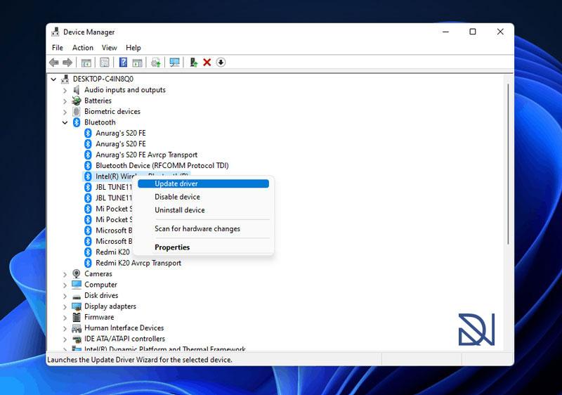 آموزش نصب درایور بلوتوث (Bluetooth Driver) در ویندوز 11